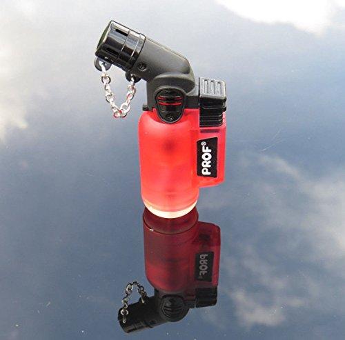 Schräges winddichtes Feuerzeug Turbo Jet, Farben: rot, grün, schwarz, blau, orange