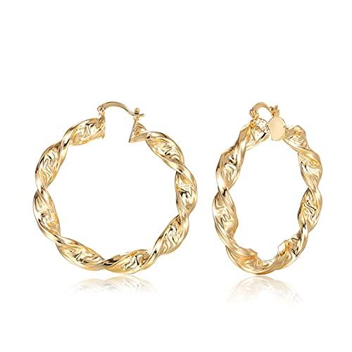 Lujosos pendientes de aro de moda para mujeres Pendientes para anillo de oro Femenino Estilo caliente Joyería Accesorios de boda Regalo por YESYI SHMGO