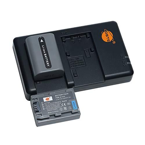 NP-FP50 - Batería recargable y cargador dual compatible con cámaras Sony NP-FP30, DCR-30, DVD103, DVD105, DVD202E, DVD203, DVD205, DVD304E, DVD305, etc.