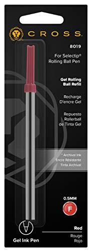 Recambio bolígrafo (tinta de gel, 0,5 mm), color rojo
