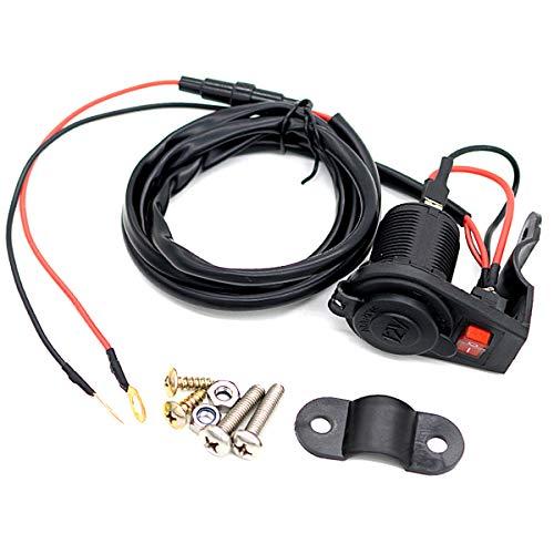 SANON Soporte para Interruptor de Motocicleta de 12-24V Base para Encendedor de Cigarrillos