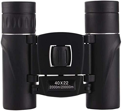 LG Snow Mini telescopio de área de Lentes HD portátil de 40 Veces Binocle Prismáticos Negro Recorrido al Aire Libre 40x22