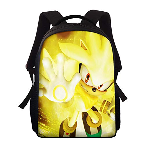 Sonic The Hedgehog 3D Laptop Backpack for Boy Girl, Business Travel Backpack with USB Charging Port, Water Resistant Slim College School Computer Bag for Girls Boys Men,1