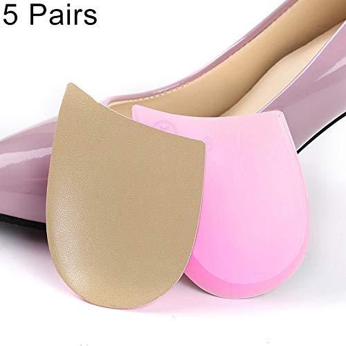 YOUZHIXUAN Cuidado 5 Pares versión Mejorada de Hombres y Mujeres O/X Plantilla de corrección de piernas Dentro/Fuera de Ocho pies Corrección ortopédica Talón Pad (Color : Transparent)