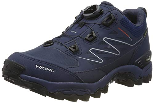 viking Unisex-Erwachsene Anaconda 4x4 Boa GTX Trekking- & Wanderhalbschuhe, Blau (Navy/Orange 531), 42 EU