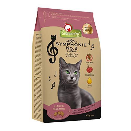 GranataPet Symphonie No. 2 Lachs, Trockenfutter für Katzen, Alleinfuttermittel ohne Getreide & Zuckerzusätze, schmackhaftes Katzenfutter mit edlem Fisch, 300 g