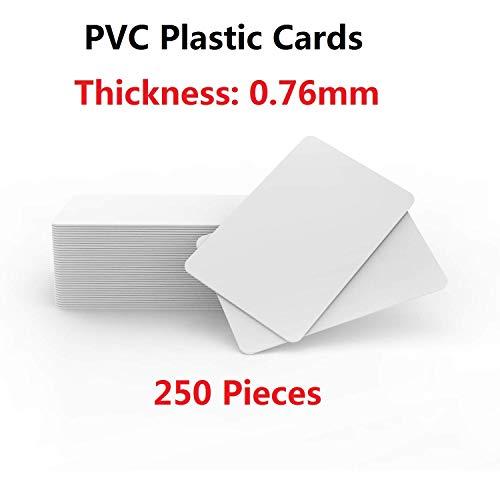 250 Stuks Timeskey PVC-kaart CR80 30 Mil, kwaliteit PVC-kaarten, bedrukbaar met professionele printer(CR8030)
