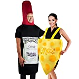 Tigerdoe Couples Costumes - Wine & Cheese Costume - Funny Adult Halloween Costumes