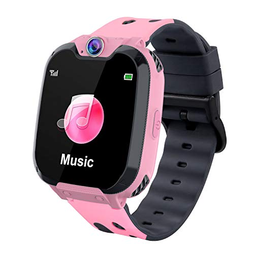 Smart Watch for Kids,Watches for Kids with Phone 7 Games Call SOS Camera Music Player Alarm Clock Kids Watch Calendar Touch Screen for Boys Girls Children 4-12 Birthday Festival Gift
