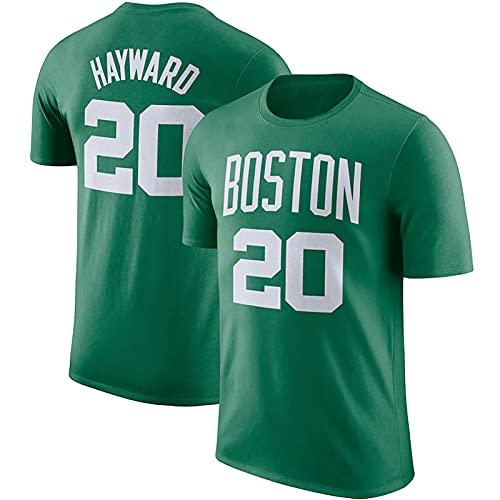 LGLE Celtics # 20 Hayward, Camiseta de Baloncesto, Ropa de Entrenamiento, Ropa Deportiva al Aire Libre, Ropa para Correr al Aire Libre para Hombres, Camisetas para Hombres,Green,3XL