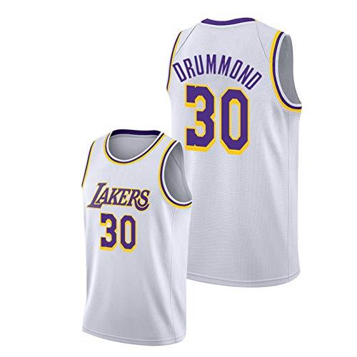 Camiseta de baloncesto para hombre, modelo 30 de Andrě Drsmmond de Lakěrs, camiseta de entrenamiento juvenil, sin mangas, color blanco, 1-L