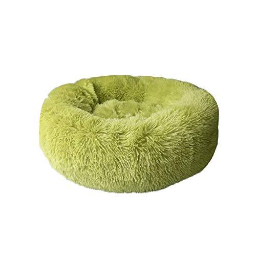 Mrzhou Buñuelo removible Larga Pet Pet Pet PEQUEÑA Cama Redonda Cama Redonda Invierno Caliente Caliente Casa de Dormir Suave para Perros medianos Grandes Lavables