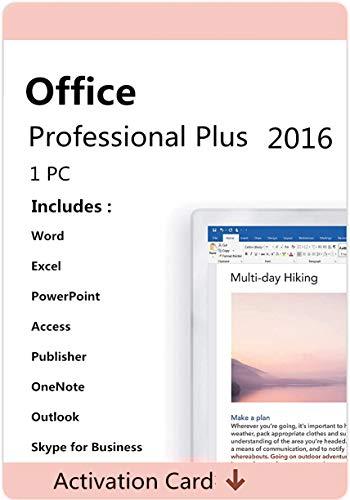 Clave de activación de licencia para Office 2016 Professional Plus, clave de licencia original de 32 bits y 64 bits, por vida, código de clave enviado por Amazon Mensaje/correo electrónico
