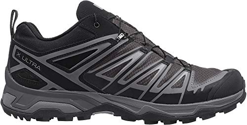 Salomon X Ultra 3 GTX, Zapatillas de Senderismo para Hombre, Negro (Black/Magnet/Quiet Shade), 45 1/3 EU