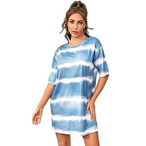 Verdusa Women's Sleepwear Cartoon Print Sleepshirt Comfy Nightgown Pajama Multicolored S