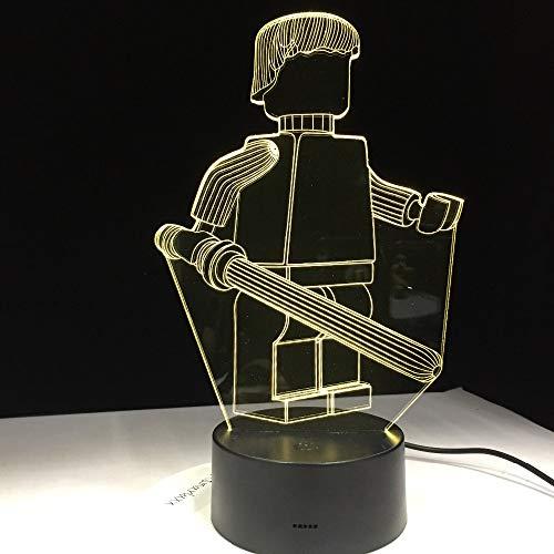 Keukenmachine met 3D-teken, tafellamp, voor kantoor, hotel, slaapkamer, bar, sensor, afstandsbediening, nachtlampje, voor kinderen, schoolgeschenk