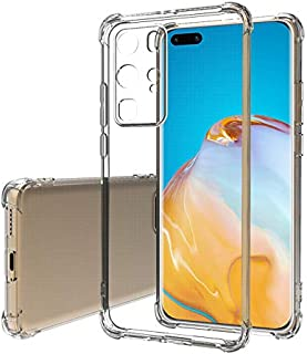 Huawei P40 Pro Case Cover Anti-falling Transparent Crystal Clear Shockproof TPU Bumper Cell Phone Case Back Cover For Huaw...