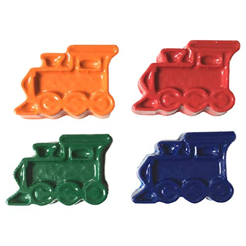 MinifigFans 48 Train Crayons - Birthday Party Favors - 12 Sets of 4 Crayons - Made in the USA