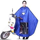 ZP-MIN EVA bicicleta eléctrica impermeable bicicleta cubierta impermeable P llevando motocicleta bicicleta hombres cubierta de lluvia