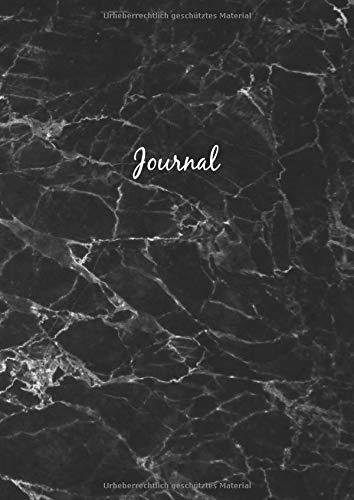 Dot Grid Journal A4 Notizbuch: Blanko Heft Für Bullet Journaling | Dotted Notebook | 110 Punktraster Seiten | Marmor Schwarz