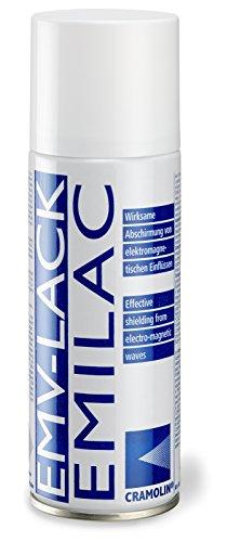 EMV-LACK - VPE: 12 x 200ml Spraydose - hochleitfähiger Überzug auf Kupferbasis - ITW Cramolin - 1241411 - Wirksame Abschirmung von elektromagnetischen Einflüssen,inkl. 1 Dose Framary 15nerScrubs