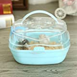 JKGHK Portable Carrier Hamster Carry Case Cage Small Animal Habitat with Water Bottle Travel and Outdoor