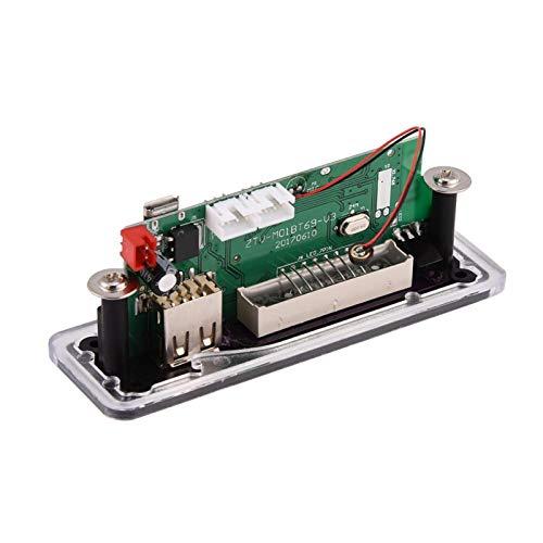 BALITY Decodificador Mp3 USB, Multifuncional USB FM Inalámbrico MP3 WMA Decodificador Placa Manos Libres Llamada 4.2