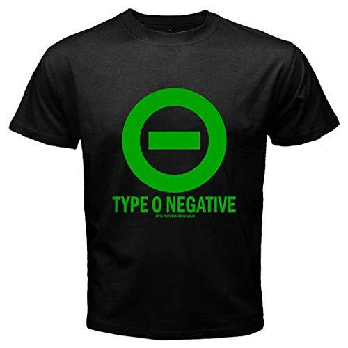 New Type O Negative Logo Men's Black T-Shirt Size S to 3XLblackS