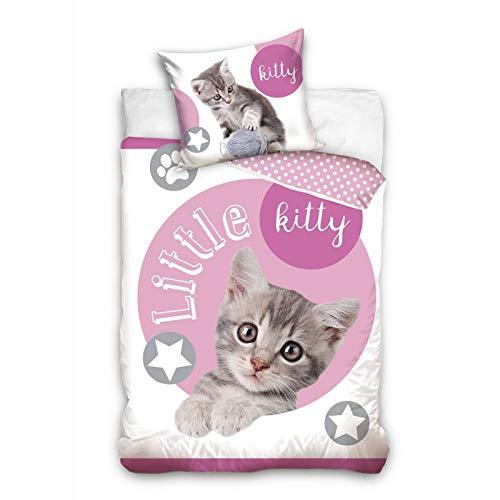 Carbotex Little Kitty - Funda de edredón, diseño de gato