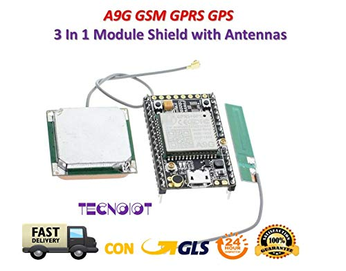 TECNOIOT A9G A9 gsm GPRS GPS BDS Module A9G Core Pudding Development Board with Antenna