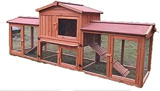 Large Wooden Rabbit Hutch Chicken Coop Ferret Cage Double Run