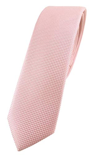 TigerTie - Corbata de diseño estrecho con puntos finos. Corbata de 4,5 cm de ancho., Rosa., Talla única