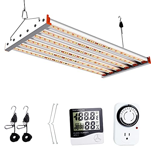 ACKE ALP-400W LED Grow Light 5x5 Coverage for Veg Stage,Full Spectrum Growing lamp 4x4 Coverage for Flowering Stage,Plant Grow Light for Commercial Indoor Plant Grower