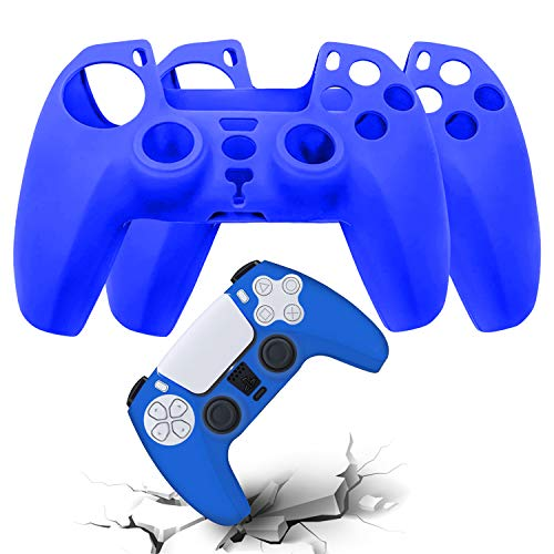 AVITER PS5 Silicone Controller Skins - Durable Dustproof Grip Anti-Slip Cover Protector Case for Playstation 5 DualSense Wireless Controller 2 Pieces