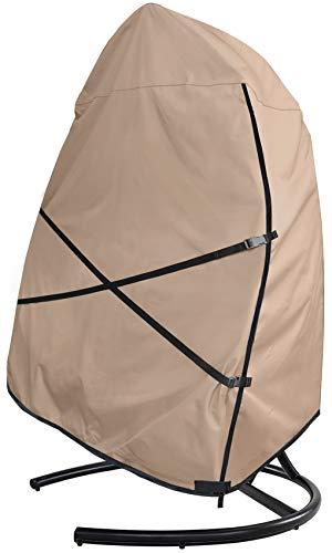 ULTCOVER - Funda para silla de huevo colgante para patio – impermeable al aire libre con asiento doble columpio con funda de soporte, 168 cm de ancho x 43 cm de alto x 68 cm de ancho