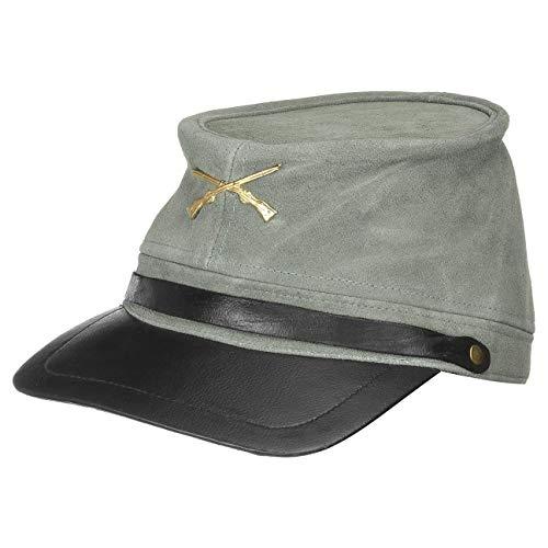 Sombreroshop Gorra de Piel Sudista antegorra (Talla nica - Gris)