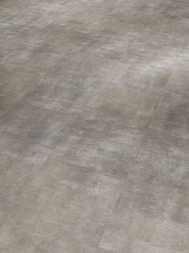 Parador Klick Vinyl Bodenbelag Basic 4.3 Fliese Mineral Grey Mineralstruktur 1,934m², hochwertige Steinoptik mittel grau 4,3mm, einfache Verlegung