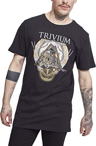 MERCHCODE Herren Trivium Triangular War Tee T-Shirt, Black, M