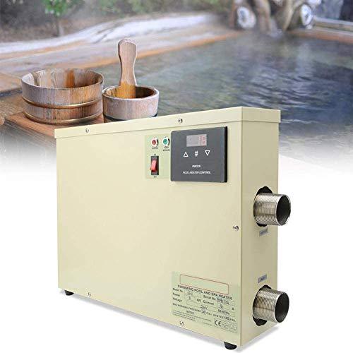 Cacoffay 11KW Impermeabile riscaldatore di Acqua Nuoto Elettrico di Riscaldamento termostato riscaldatore Pompa della Piscina riscaldatore per Spa Vasca da Bagno Piscina 220V Impermeabile