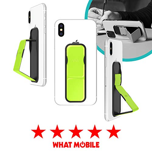 CLCKR Phone Stand Multi Viewing Modes Compatible with Universal Devices Including iPhone 11/11 Pro/X/XS/XR Samsung Galaxy S8/S9/S10 and Many More - Neon Yellow