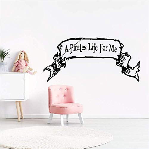 stickers muraux bebe juju et compagnie A Pirates Life For Me For Nursery Kids Room Boys Girls Room Home Decor