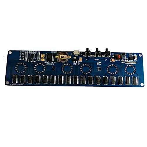 TSAUTOP Newest 5V Electronic DIY Kit IN14 Nixie Tube Digital LED Circuit Circuit Kit PCBA, sin Tubos (Color : PCB Board no Tube)