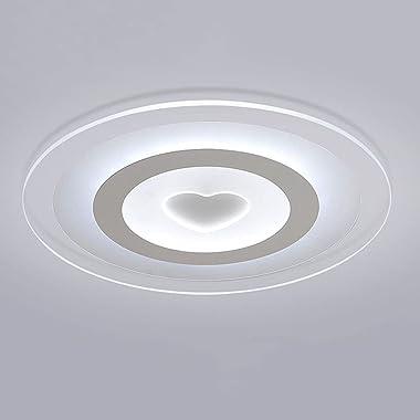 ZWDEDIAN Plafonnier Rond Créatif Acrylique LED Decoratve Lumières Simplicité Lampe À Encastrer Abat-Jour Transparent Ultra-Mi
