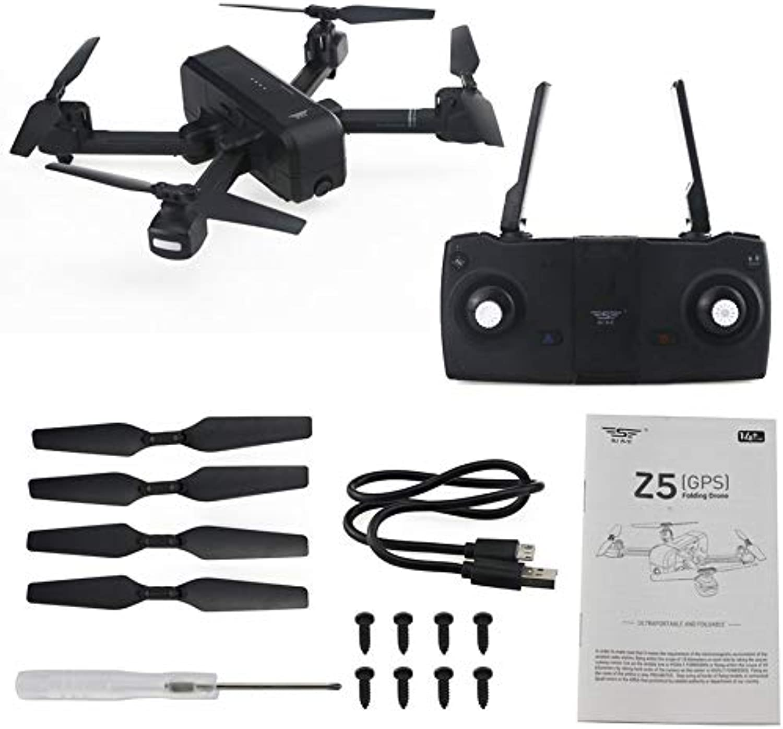 HoganeyVan Z5 Dual GPS RC Drohne Quadcopter mit 1080 P WiFi Weitwinkel FPV Einstellbare Kamera Bild Follow Me Geste Selfie Tap Flug