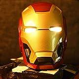 WXHJM Mini Iron Man Altavoz Bluetooth Inalámbrico,LED Luz Intermitente,Altavoz Bluetooth Mini Altavoces Inalámbricos Subwoofer Estéreo Transformadores para FM Mp3 TF