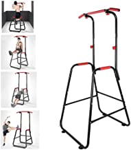 TANGNADE Adjustable Chin Up Stand Dip Power Tower Home Gym Fitness Workout, Strength Tower Power Tower Workout Dip Station for Home Gym Strength Training Fitness Equipment