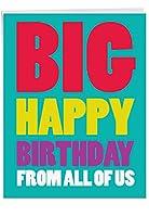 """p3900ジャンボFunnyカード: Big Happy誕生日からUS with Envelope ( Extra Largeバージョン: 8.5"""" X 11"""" ) 1 Jumbo Valentine's Day Card & Enve. (J2200VDG)"""