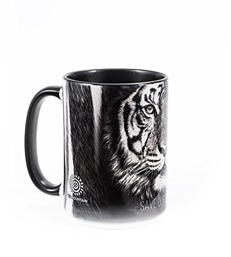 The Mountain Herren Tiger Save Species Coffee Mug Winterzubehör, Set, schwarz, 15 oz