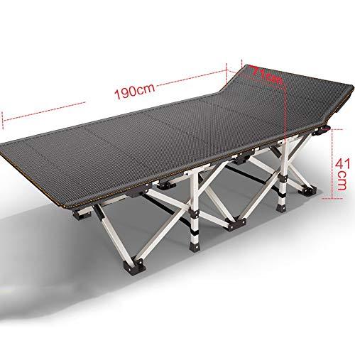 YLCJ Campingbedden Robuust opvouwbaar campingbed, Gemotoriseerd staal 10 Ondersteuningspunt, Gewicht 300 kg, Inclusief tapijt, Opvouwbare opbergtas (Kleur: 1001) 1003