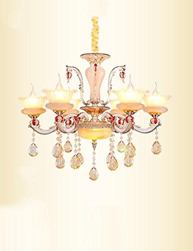 Kronleuchter- Zink-Legierung Kristall Kronleuchter Retro europäischen Stil Jade Wohnzimmer Schlafzimmer Restaurant Luxuriöse Kronleuchter -Innen Kronleuchter (Farbe : 2)